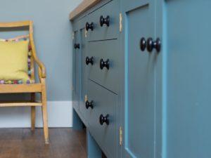 Colourful Funky Kitchen Denim Blue Penninsular