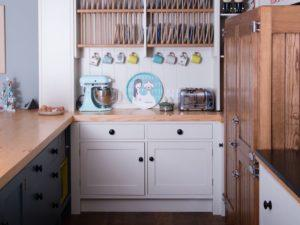 Colourful Funky Kitchen Dresser with Plate Rack