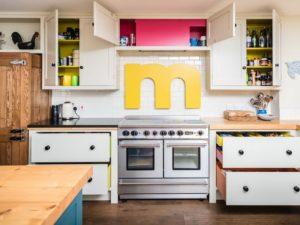 Colourful Funky Kitchen Falcon Range Cooker View