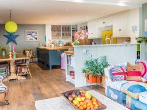 Colourful Funky Kitchen Open Plan Kitchen Diner Living Space 1