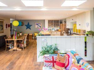 Colourful Funky Kitchen Open Plan Kitchen Diner Living Space 2