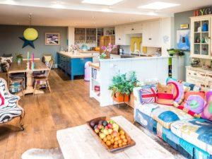 Colourful Funky Kitchen Open Plan Kitchen Diner Living Space 3