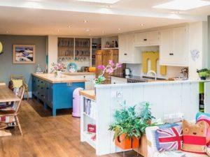 Colourful Funky Kitchen Open plan Kitchen Dining Living