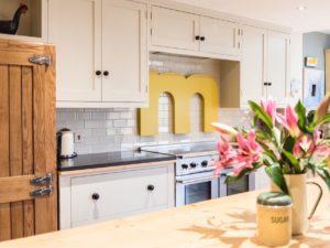 Colourful Funky Kitchen Vintage Style Ash Fridge Freezer Slate Wortop Falcon Oven