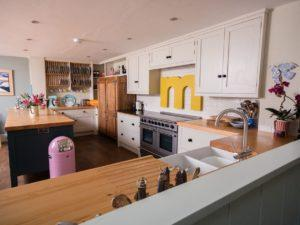 Colourful Funky Kitchen from Ceramic Belfast Sink Run