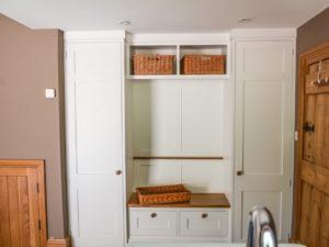 Modern Scullery Boot Bench Storage Unit
