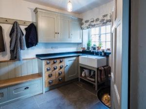 Mud Room with Belfast Sink Wash Stand