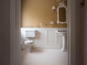 Elegant Panelled Bathroom from Doorway