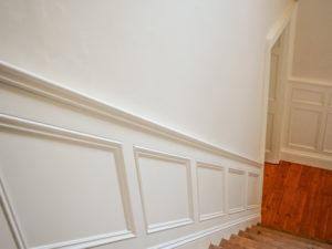 Hallway Panelling along the Stairs
