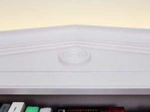 Hand Painted Bookcase 2 Cornice Detail