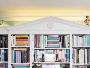 Hand Painted Bookcase Top detailing