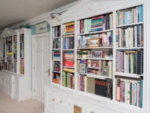 Hand Painted Bookcases Pair of