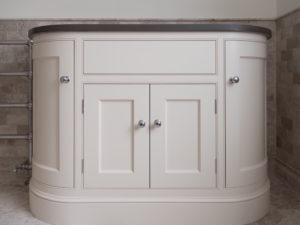 Hand Painted Curved Vanity Unit Front View