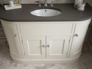 Hand Painted Curved Vanity Unit Granite Top View