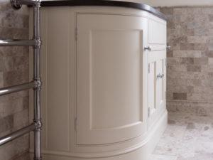 Hand Painted Curved Vanity Unit Side View