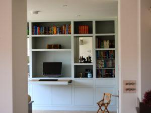 Modern Library with Desk