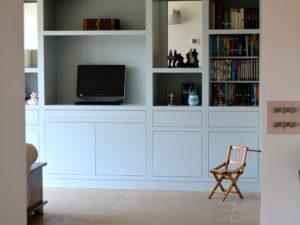 Modern Library with Hidden Desk