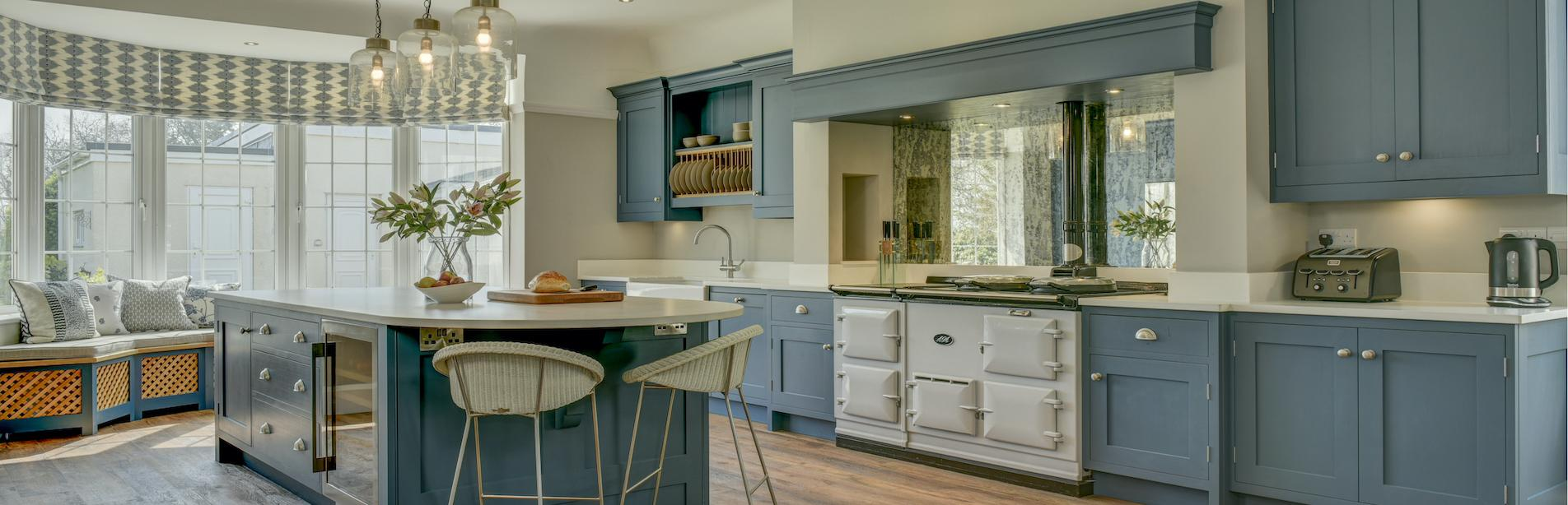 Mark Butterfield Denim Blue Kitchen